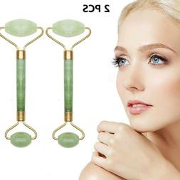 2Pack Jade Roller Massager Tool Anti Aging Skin Firming for