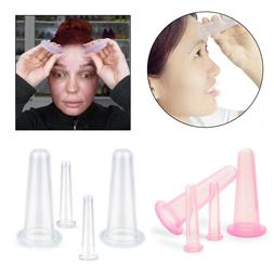 4Pcs/set Silicone Massage Cup Facial Cupping Cup Vacuum Cupp