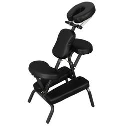 Black Adjustable Fold Pad Massage Table Chair Floor Therapy