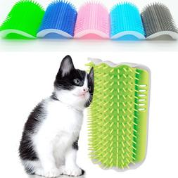 Cat Corner Brush For Long Hair Squeaky Face Massage Comb Com