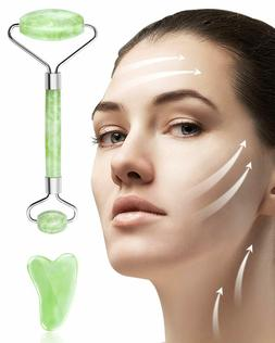 iMethod Jade Facial Roller Massager for Women with Gua Sha T