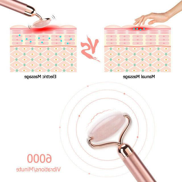 electric roller slimming face massage lifting vibrating