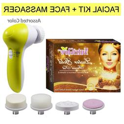 NUTRIGLOW Luster Gold Facial Kit with Face Massager55g