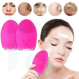 Mini Electric Massage Brush Silicone Face Facial Cleaning Wa