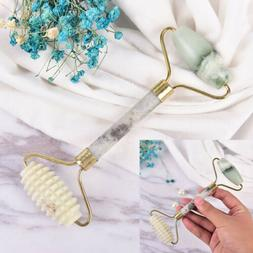 Natural Jade Stone Face Massager Roller Spa Head Neck Body F