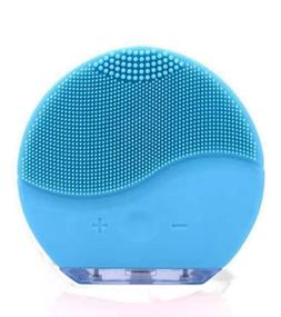 Rechargeable Ultrasonic Face Deep Cleanser Silicone Brush Sc